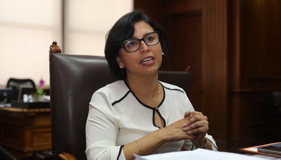 Ministra de Trabajo, Sylvia Cáceres. (Foto: GEC)