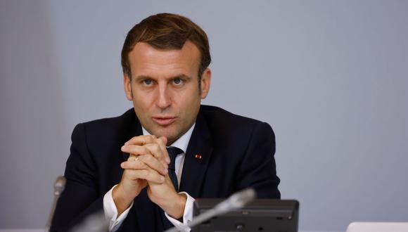 El presidente de Francia, Emmanuel Macron, anunció este martes una relajación de las medidas restrictivas por el coronavirus. (Foto: Ludovic MARIN / various sources / AFP).