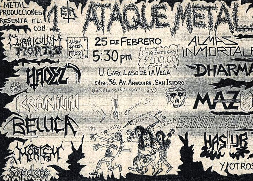 En 1988, se realizó la primera edición del Ataque Metal.
