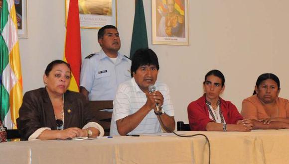 Morales preparará una demanda contra EEUU ante instancias internacionales. (Reynaldo Zaconeta/ABI)
