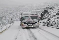 Áncash: Reportan problemas en vía Carhuaz- Chacas – San Luis tras intensa nevada