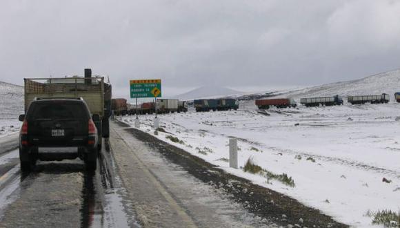 El tránsito podría verse interrumpido por la nieve. (Difusión)