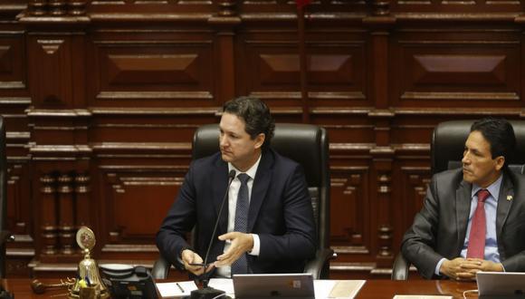 Daniel Salaverry presentó una medida cautelar para bloquear el informe que la Comisión de Ética aprobó en su contra. (Foto: GEC/Mario Zapata)