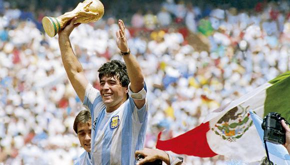 Maradona ganó un Mundial en su carrera. (Getty)