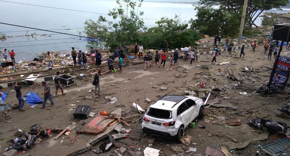 Indonesia: Decenas de muertos tras devastador tsunami en Palu. (AFP)