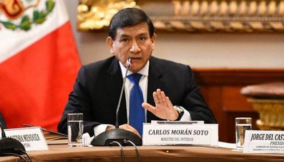 El ministro del Interior, Carlos Morán, consideró que Jorge del Castillo debería de disculparse con toda la institución policial. (Foto: GEC)