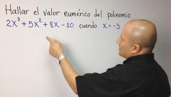 YouTube: Profesor colombiano enseña matemática mediante videos y es un éxito (Captura)