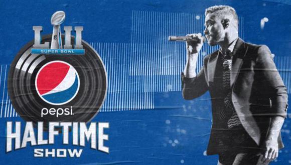 Justin Timberlake cantará en el medio tiempo del Super Bowl 2018 (Justin Timberlake/Facebook)