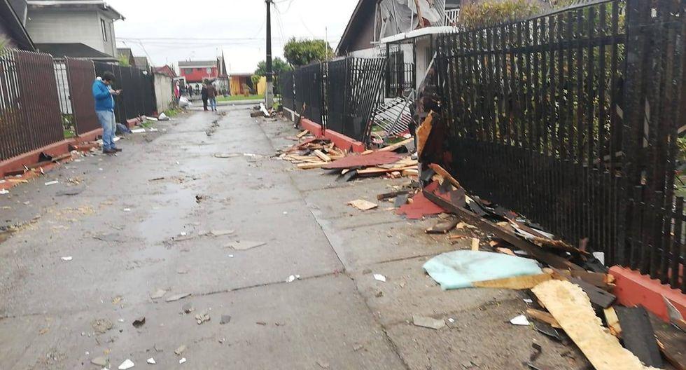 Chile: Una persona fallecida y más de 100 viviendas afectadas por tromba marina en Talcahuano. (Facebook)