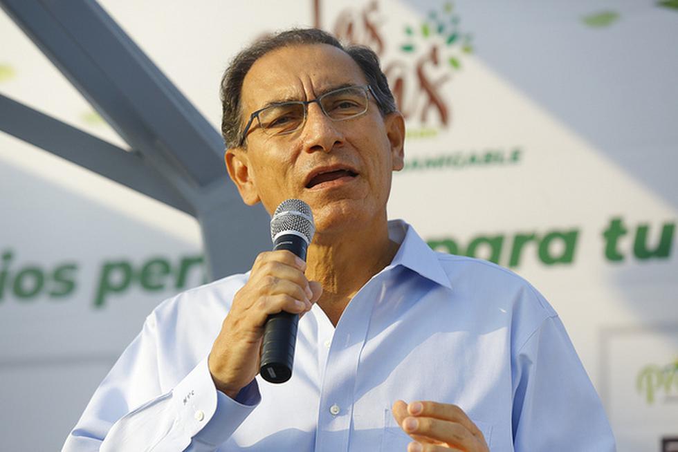 El presidente Martín Vizcarra participó de la presentación del proyecto Alameda del Rímac. (Foto: Presidencia)