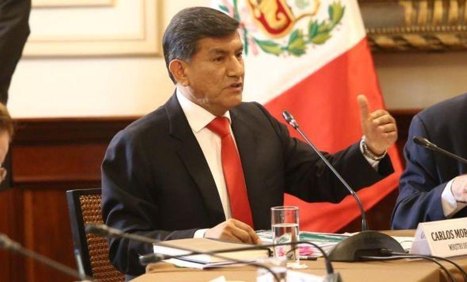 Mediante un Oficio, el ministro del Interior, Carlos Morán, solicitó participar en sesión de la Comisión de Defensa del Congreso. (Foto: Mininter)