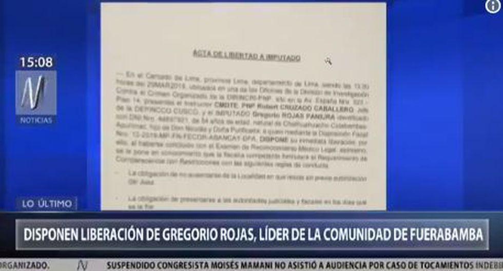 Rojas habría sido manipulado por los hermanos Chávez Sotelo, acusados de extorsionar a la empresa minera Las Bambas. (Foto: Captura Canal N)