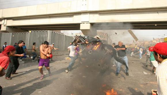 El 'jueves negro' (25 de octubre de 2012) dejó el saldo de dos muertos en La Parada.