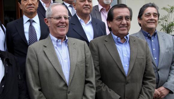 UNIDAD. Dirigentes de todos los partidos fueron convocados. (Andina)