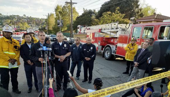 El alcalde de Los Ángeles informó que el detenido estuvo involucrado en una disputa familiar en la que disparó contra su abuela y una mujer. (Foto: AP)