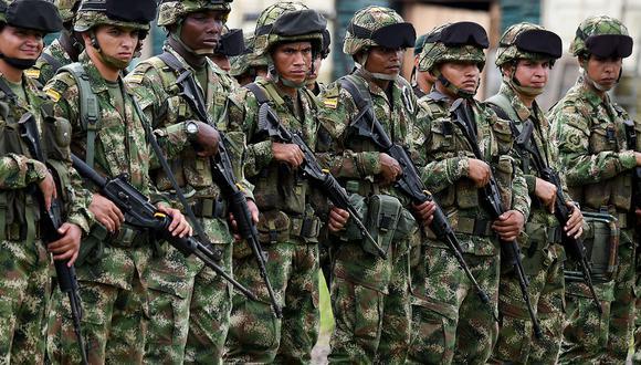 Los soldados colombianos entrenan en el municipio de Tumaco, departamento de Nariño. (Foto: AFP/Archivo)