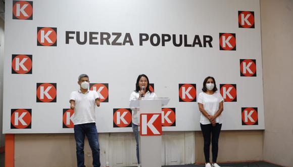Keiko Fujimori organizó una conferencia de prensa en el local de Fuerza Popular. (Giancarlo Ávila/GEC)