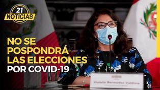 Premier Violeta Bermúdez afirmó que no se pospondrán las elecciones por COVID-19