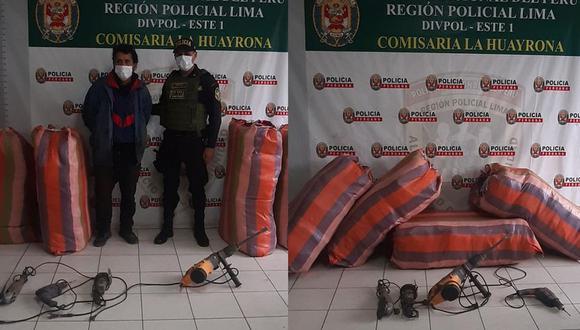 Capturaron a 'robacasas' en San Juan de Lurigancho. (PNP)