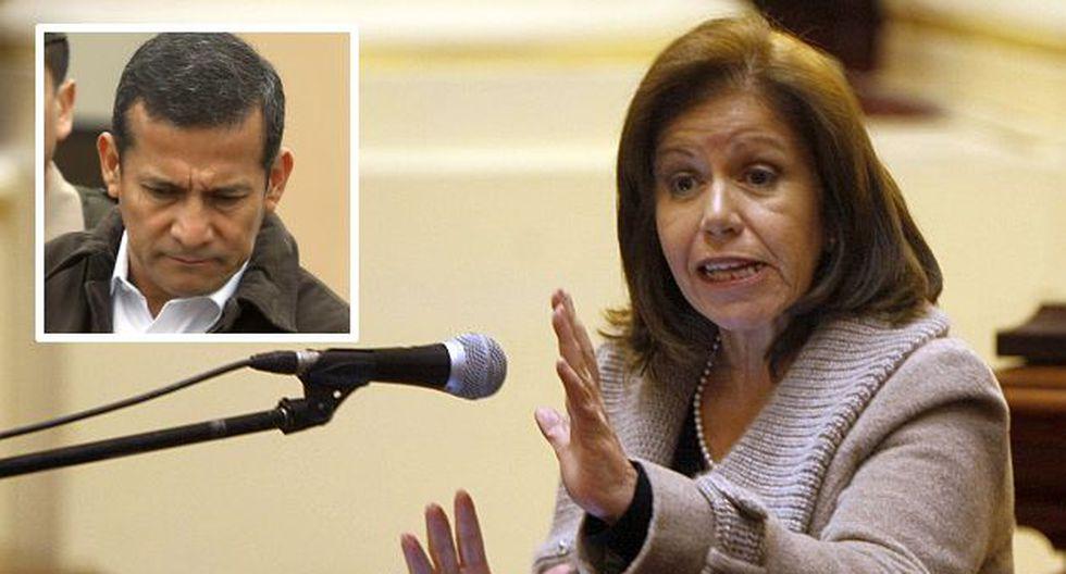 Lourdes Flores criticó fuertemente al presidente Humala. (USI)