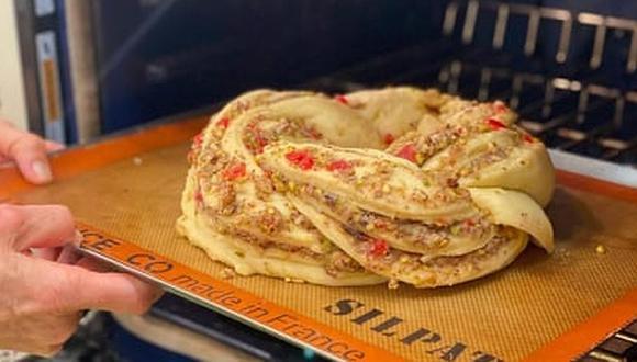 La Rosca de Reyes es un pan dulce decorado con fruta confitada o escarchado. (Foto: @sandraplevisani / Instagram)