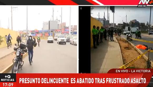 El hecho ocurrió en los alrededores del óvalo Arriola, en La Victoria. (ATV+)