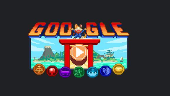 Doodle de Juegos Olímpicos de Tokio 2020 con juego de rol. (Google/Captura).