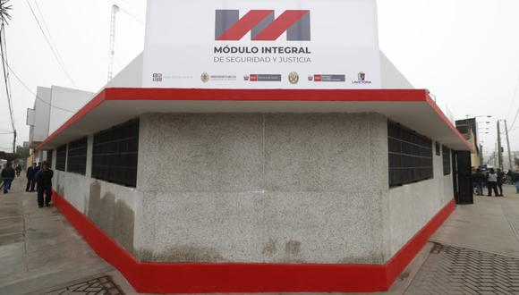 El Módulo Integral de Seguridad y Justicia estáubicado en el cruce de la Av. Andahuaylas con el jirón Hipólito Unanue. (Foto: César Campos)