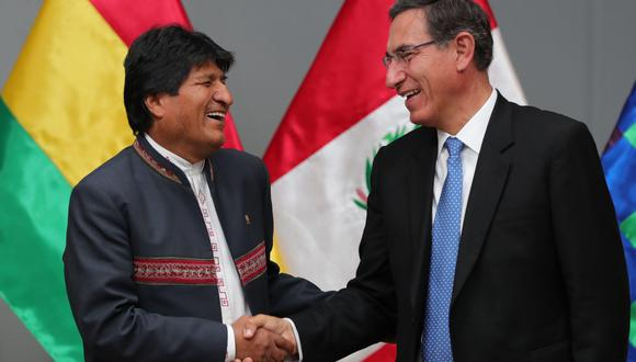 Uno de los anhelos de Evo Morales es que el puerto de Ilo se convierta en una salida preferencial para el comercio internacional de su país. (Foto: EFE)