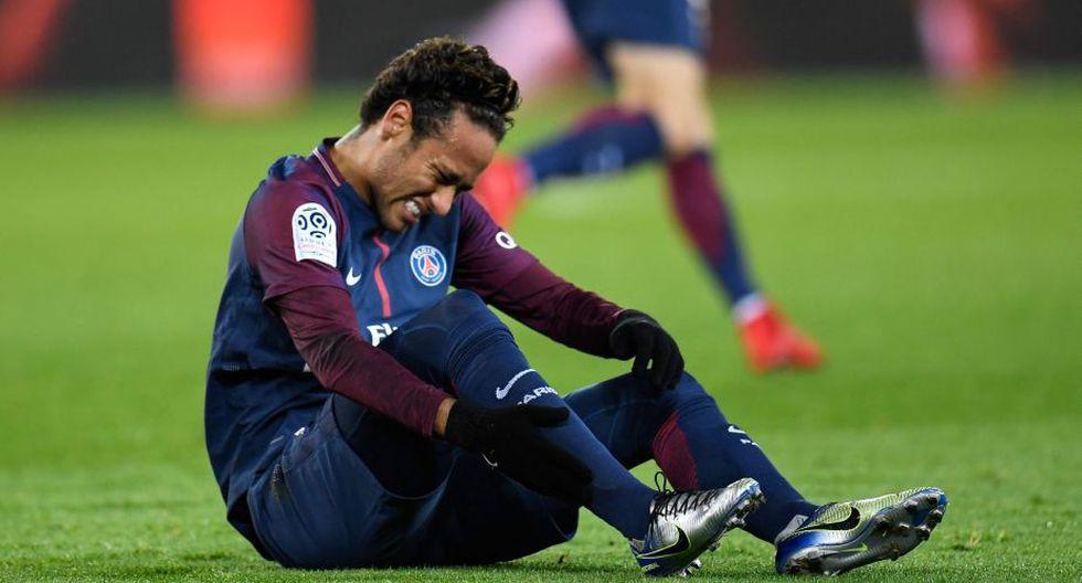 Neymar se lesionó en el partido frente al Marsella. (AFP)