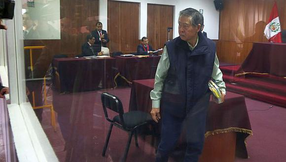 Fujimori durante una audiencia del juicio por el caso diarios 'chicha'. (USI)