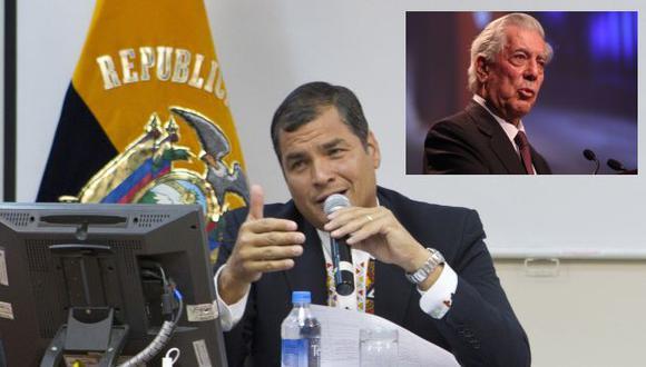 """Correa se refirió a Vargas Llosa como un \""""renegado\"""". (Presidencia de Ecuador/USI)"""