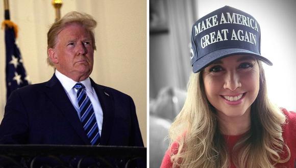 Jessica Tapia mostró todo su apoyo al presidente estadounidense Donald Trump para las elecciones de noviembre. (Fotos: Instagram / @jessicatapiaperu/ Nicholas Kamm AFP )