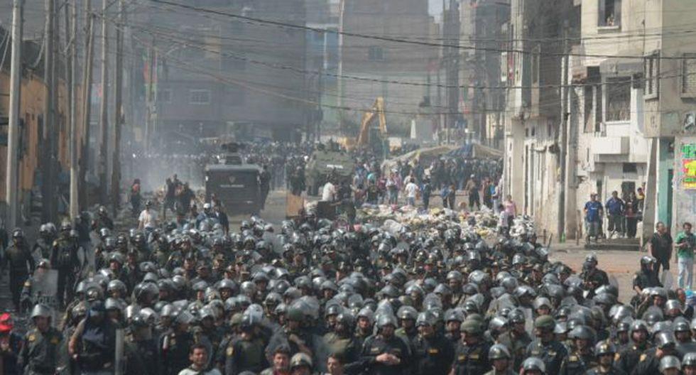 Más de 5 mil policías participaron en operativo. (Alberto Orbergoso)