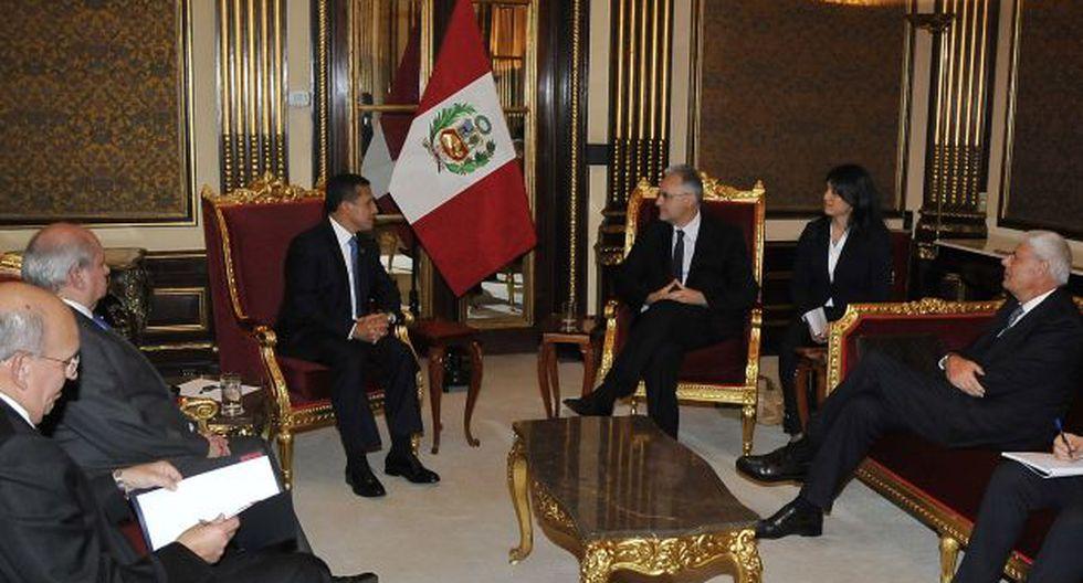 Reunión entre Mauro y Humala se dio en Palacio de Gobierno. (Andina)