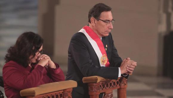 Junto al mandatario también estuvo la primera dama Maribel Díaz. (Foto: GEC)