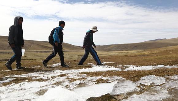 Senamhi detalló que las temperaturas más bajas se presentarán durante la madrugada del viernes 17 de mayo. (GEC)