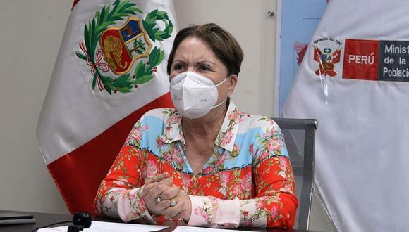 La ministra de la Mujer, Rosario Sasieta, saludó que el Congreso rechazó la moción de vacancia presidencial. (Foto: Andina)