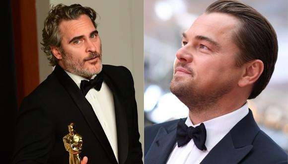 Di Caprio, cabizbajo y Joaquín Phoenix, eufórico: lo que el ojo no vio tras los Oscar (Foto: AFP)