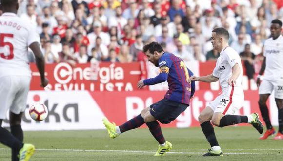 Lionel Messi puso el 2-2 parcial en el duelo entre Barcelona y Sevilla. (Foto: FC Barcelona)