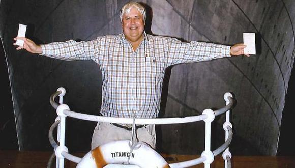 El magnate minero Clive Palmer anunció la construcción del Titanic II. (AP)