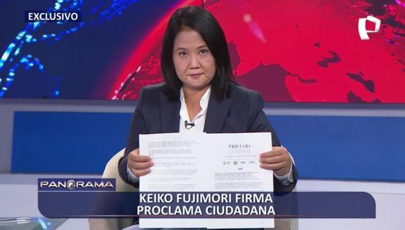 """Keiko Fujimori firmó """"Proclama Ciudadana: Juramento por la Democracia"""""""