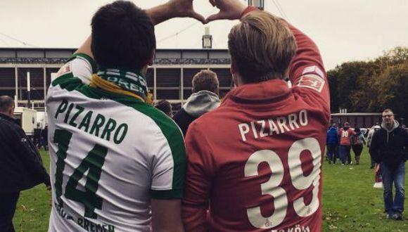 Pizarro sufrió una lesión antes del Colonia-Bremen por la Bundesliga. (Twitter @PopePunk)