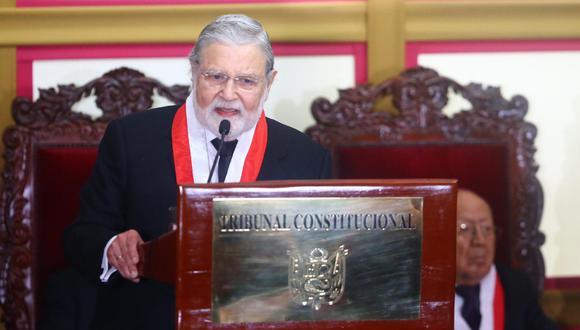 Ernesto Blume, presidente del TC: 'Disolución del Congreso es inconstitucional, pero no hay marcha atrás'. (Foto: GEC)