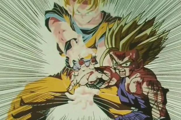 Kame Hame Ha padre e figlio è una delle scene più ricordate in Dragon Ball Z. (Toei Animation)