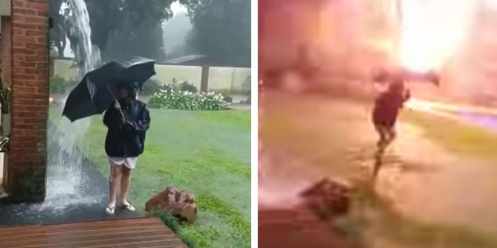 Este muchacho en Argentina casi pierde la vida tras la caída de un rayo a tan solo unos metros de él. (Foto: Facebook)