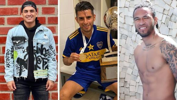 Eduardo Rabanal, Carlos Zambrano, Pedro Gallese y otros futbolistas que fueron 'ampayados' en comprometedoras situaciones con mujeres. (Composición: Instagram)