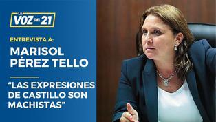 """Marisol Pérez Tello: """"Las expresiones de Castillo son machistas"""""""
