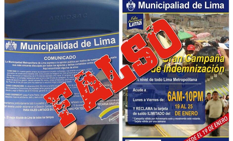 Protransporte advierte que volante satírico es falso. (Municipalidad de Lima)