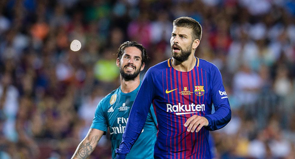 Piqué reconoce que más allá de las burlas se establece un buen vínculo de afecto y respeto entre los jugadores de Barcelona y Real Madrid de la selección de España. (GETTY IMAGES)